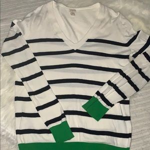 J Crew V Neck Striped Sweater